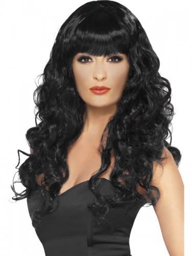 Siren Wig, Black (Example Photo)