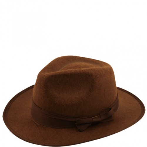 Hat: Brown Fedora Hat - Freddy Krueger Friday 13th  (Example Photo)