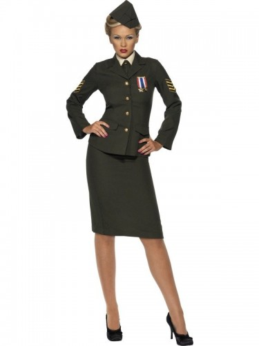 Wartime Officer Ladies Adult Costume (Example Photo)