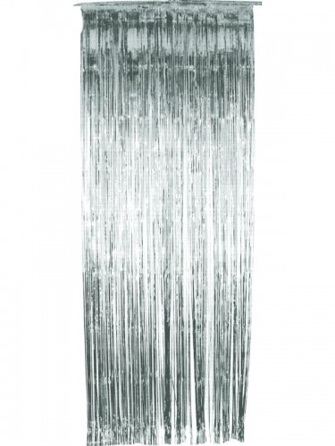 Tinsel Shimmer Curtain Silver (Example Photo)
