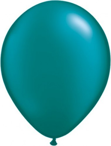 Pearl Teal helium filled latex balloon (Example Photo)