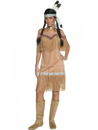 Indian Lady Authentic Western Costume (Example Photo)