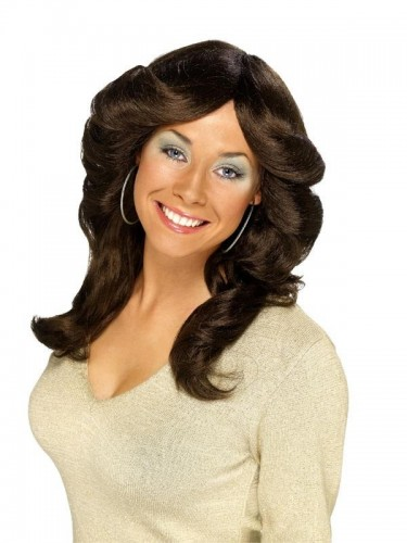 70's Flick Wig Brown  (Example Photo)