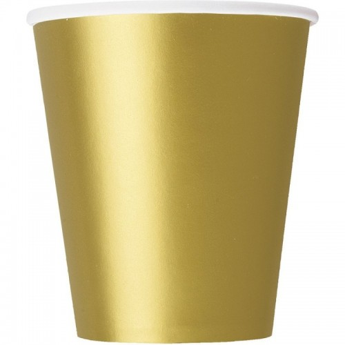 9oz Gold Paper Cups (Example Photo)