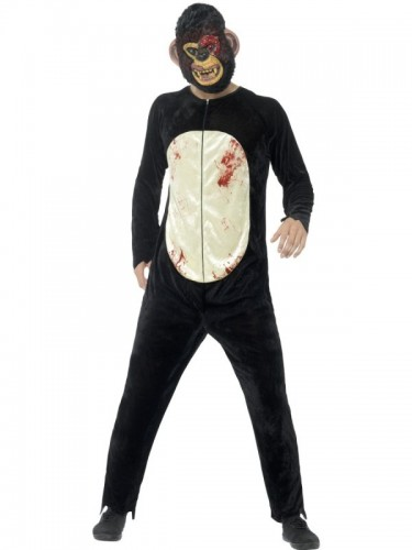 Deluxe Zombie Chimp Adult Costume  (Example Photo)