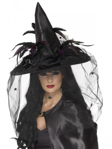 Witch Hat, Feathers and Netting (Example Photo)