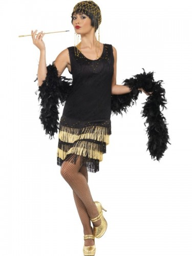 1920'S Fringed Flapper Adult Costume (Example Photo)