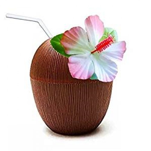 Plastic Hawaiian Party Coconut Cup  (Example Photo)