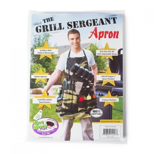 The Grill Sergeant BBQ Apron (Example Photo)