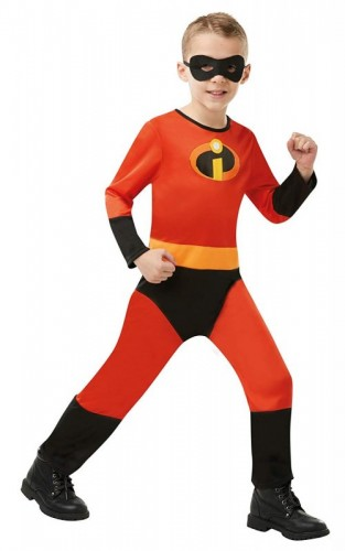 Official Disney Incredibles 2 Childs Costume, Unisex Jumpsuit (Example Photo)