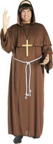 Friar Tuck Costume & Wig | Monk (Example Photo)