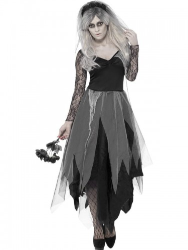 Graveyard Bride Adult Costume  (Example Photo)