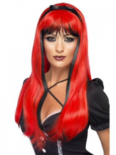 Bewitching Wig, Red & Black (Example Photo)
