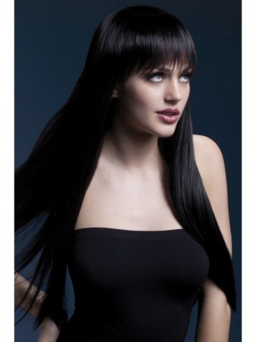 Fever Jessica Wig, Long Black Wig (Example Photo)