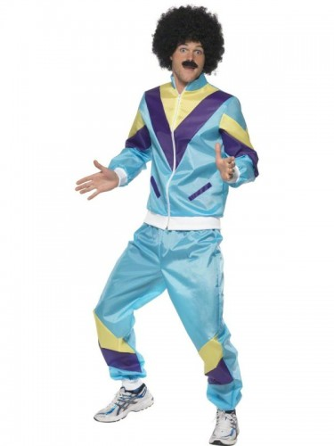 80s Shell Suit Adult Costume  (Example Photo)