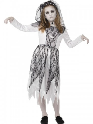 Ghostly Bride Child Costume  (Example Photo)