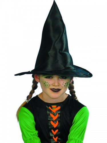 Witch Hat Child Size Black Fabric (Example Photo)