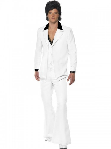 White 70's suit Adult Costume - Awaiting Stock (Example Photo)