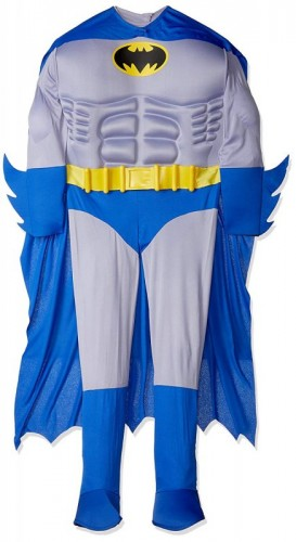 Official Adult's Batman Deluxe Costume  (Example Photo)