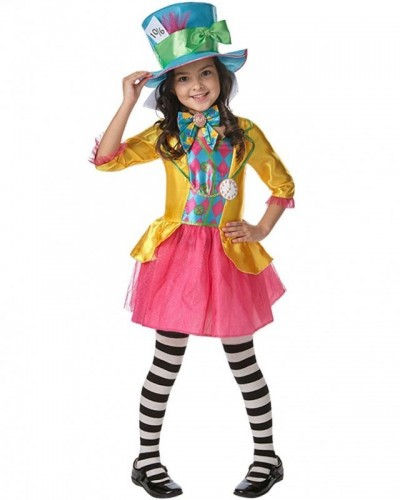 Mad Hatter Girls Costume  (Example Photo)
