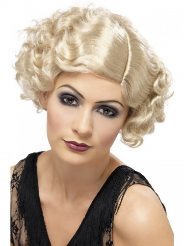 1920's Flapper Wig Blonde (Example Photo)