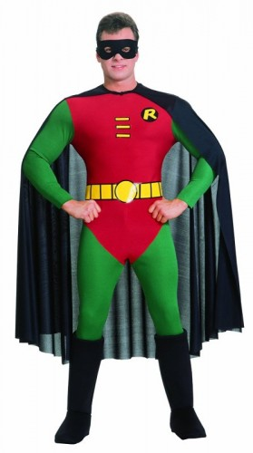 Official Adult's Robin Classic Batman Costume  (Example Photo)