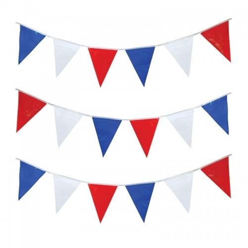 Bunting 10  meter red/white/blue (Example Photo)