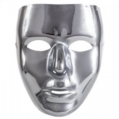 Robot Mask (Silver ) (Example Photo)