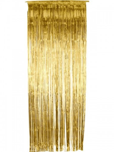 Tinsel Shimmer Curtain Gold (Example Photo)