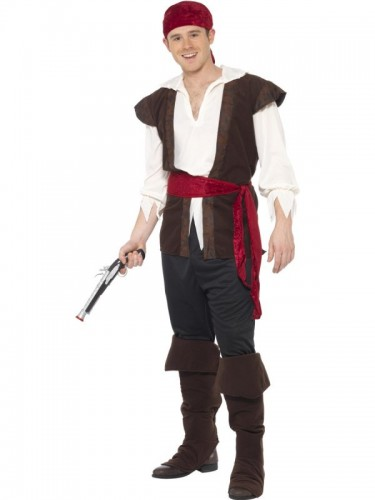 Pirate Adult Man Costume (Example Photo)
