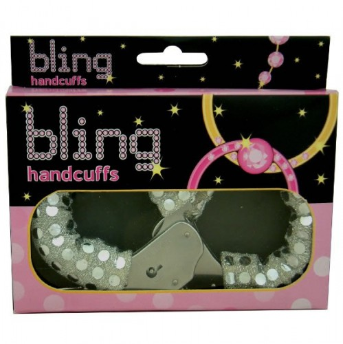 Bling Handcuffs - Silver (Example Photo)