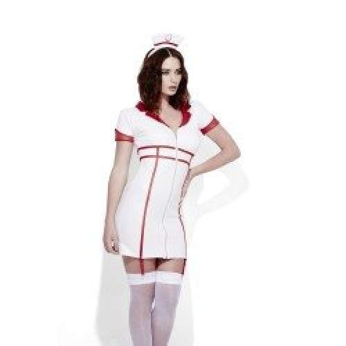 Miss Behave Nurse Fever Adult Costume (Example Photo)