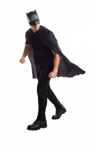Dawn of Justice Batman Adult Mask and Cape (Example Photo)