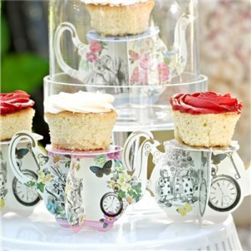 Truly Alice Teapot Cake Stands - 8cm (Example Photo)