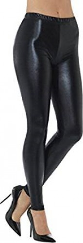 80's Metallic Disco Leggings - Black (Example Photo)