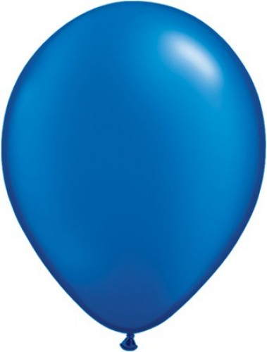 Pearl Sapphire helium filled latex balloon (Example Photo)