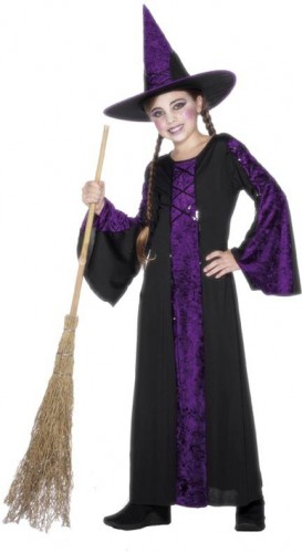Bewitched Purple Child Costume  (Example Photo)