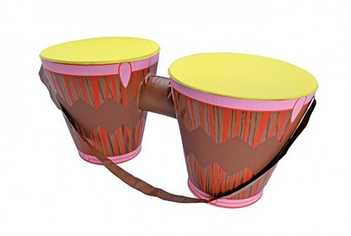 Inflatable Bongo Drums Inflatable for Hawaiian African Tropical Fancy Dress Inflatable  (Example Photo)