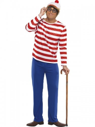 Wheres Wally Adult Costume (Example Photo)