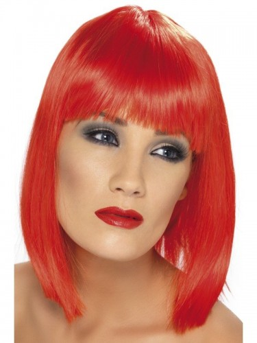 Glam Wig Neon Red (Example Photo)