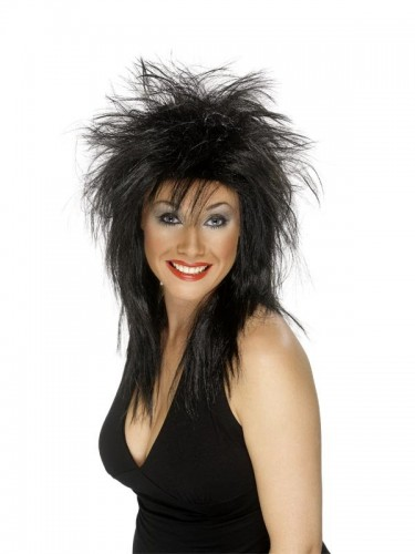 Rock Diva Wig Black  (Example Photo)