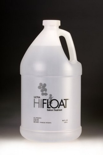 Add Ultra High Float to Helium Filled Latex Balloons to extend floating time to a week (Example Photo)
