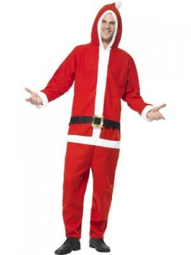 All In One Santa Costume With Hood (Example Photo)