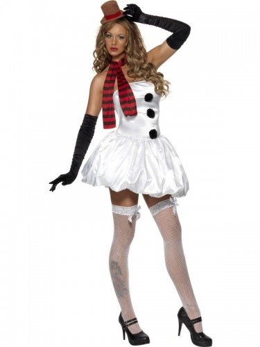 Sexy Snowman Fever Costume (Example Photo)