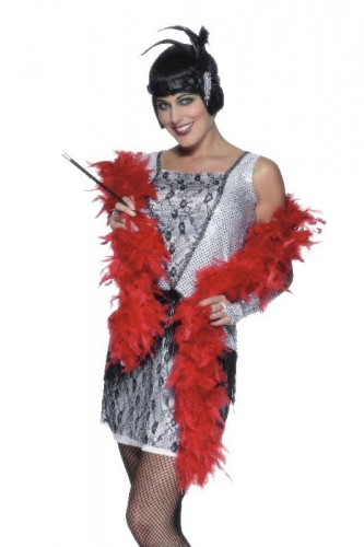 Deluxe Boa Red Feather (Example Photo)
