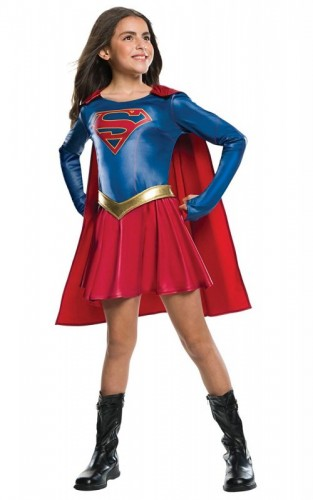 Supergirl TV Series Deluxe, Girls Childs Official Costume (Example Photo)