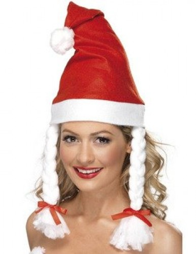Cute Santa Hat With Plaits  (Example Photo)