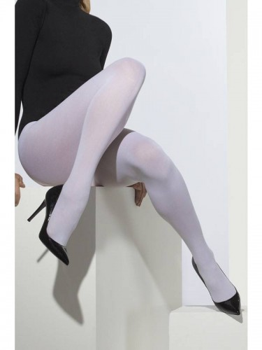Opaque Tights White (Example Photo)