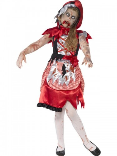 Zombie Miss Hood Child Costume  (Example Photo)