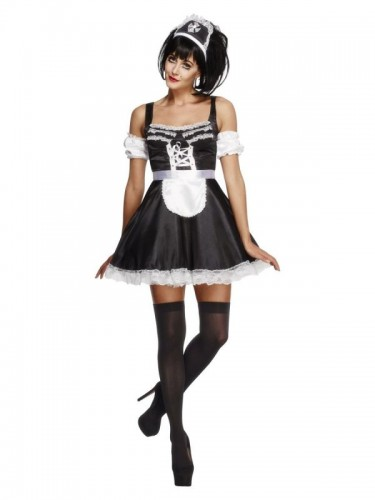 French Maid Fever Adult Costume (Example Photo)